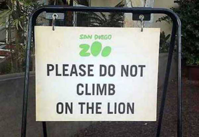 Zoo Signs Are Sometimes More Interesting Than The Animals Themselves