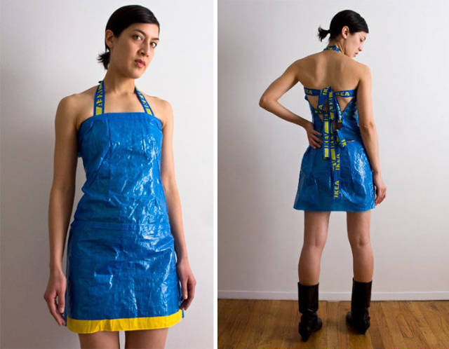 Turns Out, IKEA 99-Cent Bags Can Be Used To Create Very Nice Clothes!