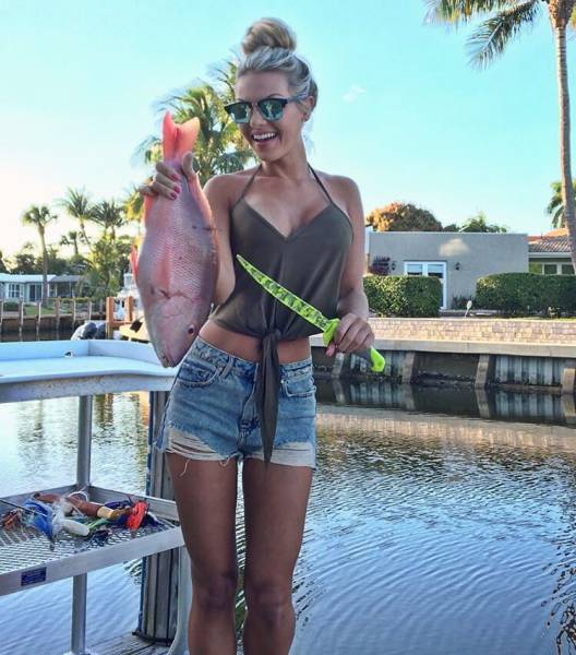 You Would Certainly Love To Go Fishing With Her!