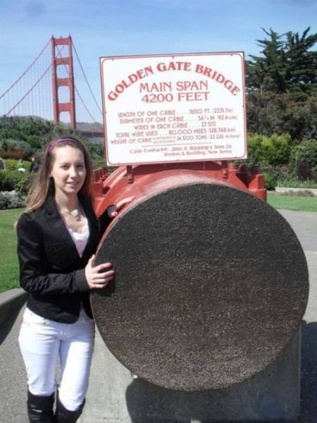 It's Impossible To Guess How Many Wires It Takes To Create A Single Cable That Holds The Golden Gate Bridge