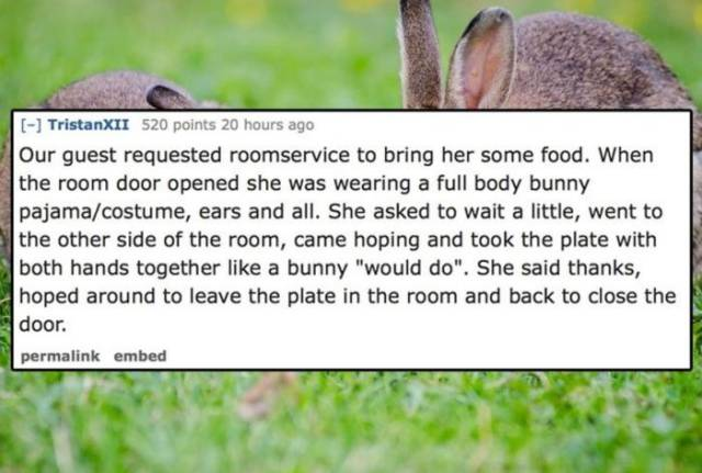 Hotel Employees Are Bound To See Their Clients Doing Some Incredibly Awkward Things