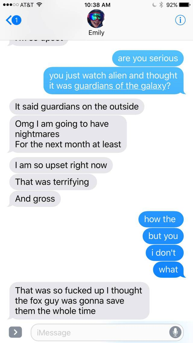 "That Little Girl Wanted To See ""Guardians Of The Galaxy"" But Was In For A Big Surprise"