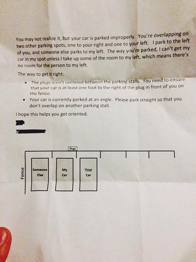 These People Really Think Their Ingenious Notes Will Stop A##holes From Parking Badly