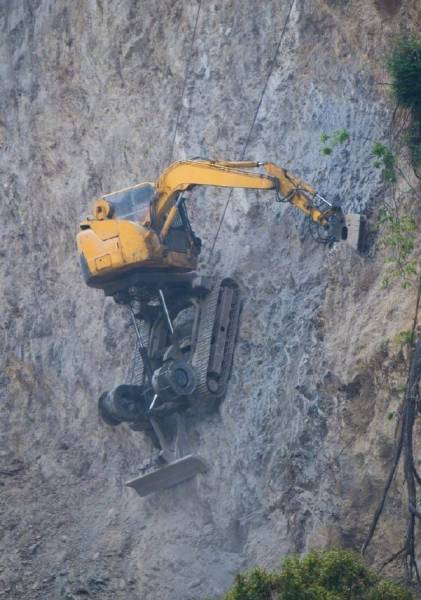 Yes, That Excavator Is Really Working There!