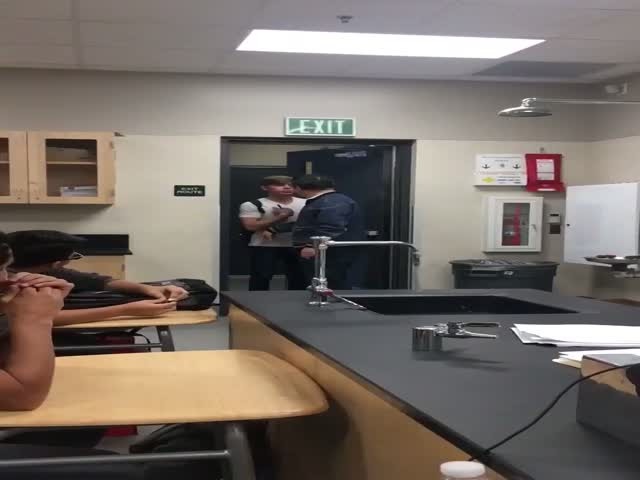 That Professor Had To Have Insane Nerves Not To Knock The Hot-Shot Out