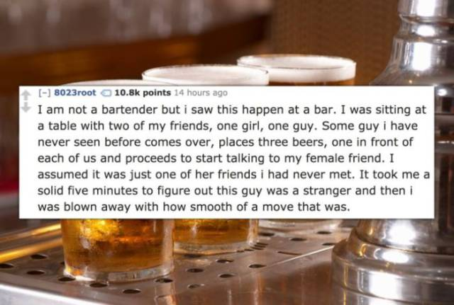 Bartenders Are Bound To Witness The Best Pick-Ups There Are