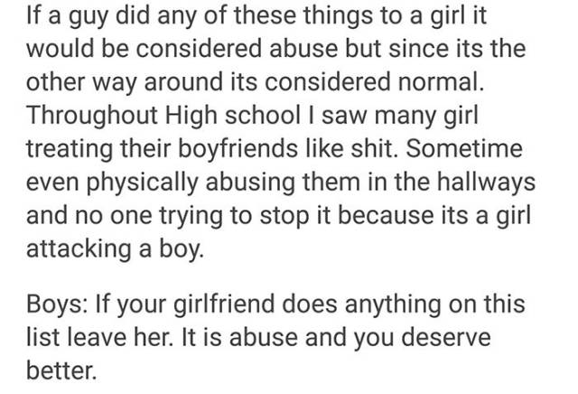 Girls Can Be No Less Abusive Than Guys, And It Should Be Stopped!