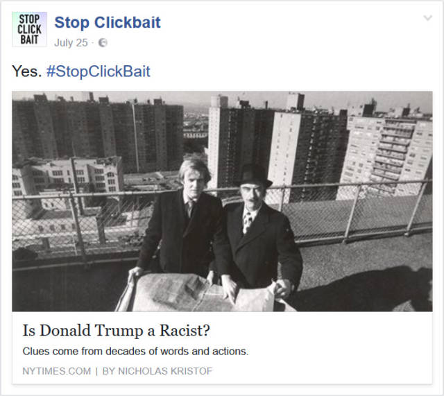 "Everyone Was SHOCKED To Find Out What ""Stop Clickbait"" Twitter Account Was Up To!"