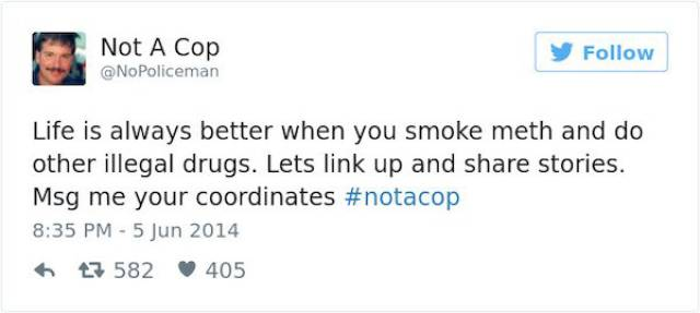 No, This Twitter User Is Definitely NOT A Cop!