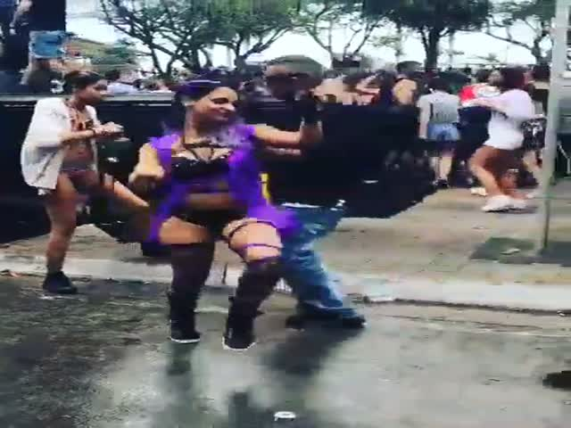 This Girl Got All The Moves!