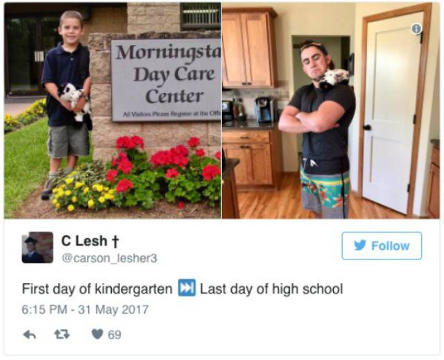 First Vs Last Day Of School Comparisons Are Just Great!
