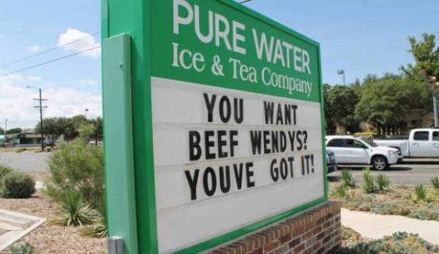 Wendy's Are Really Good When It Comes To Sign Wars