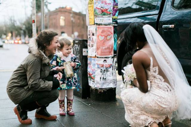 This Bride Made This Girl's Greatest Dream Come True