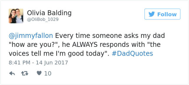 Dads Always Say The Best Thing For The Occasion