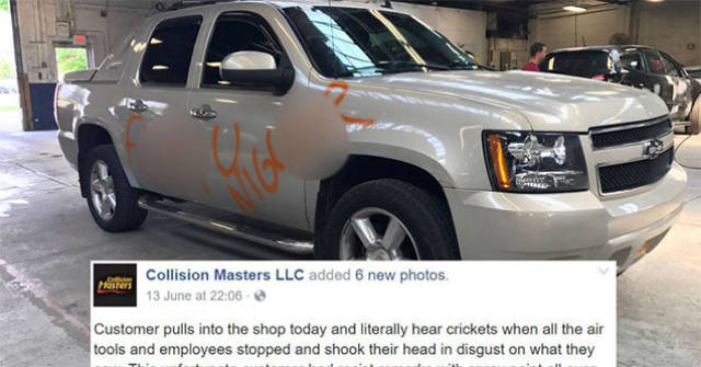 This Guy Got His Car Disfigured With Racist Insults And This Store's Workers Didn't Stop Until They Fixed It