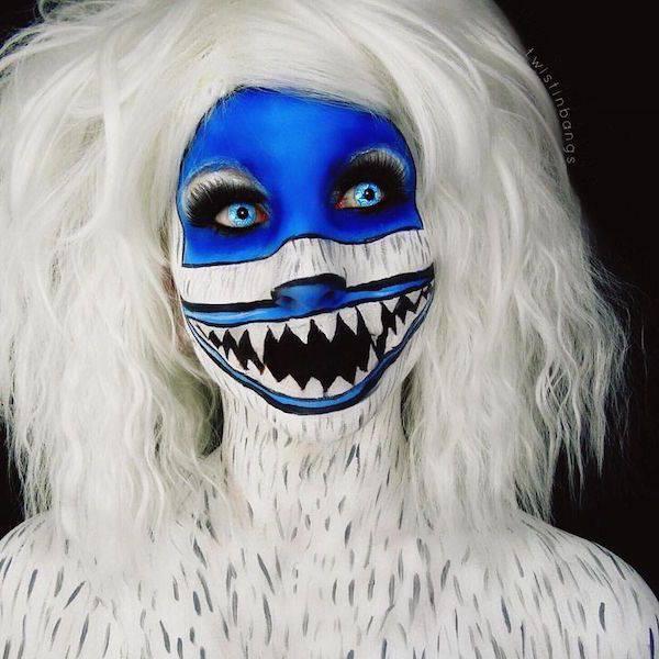 El arte del maquillaje cooporal terriblemente impresionante