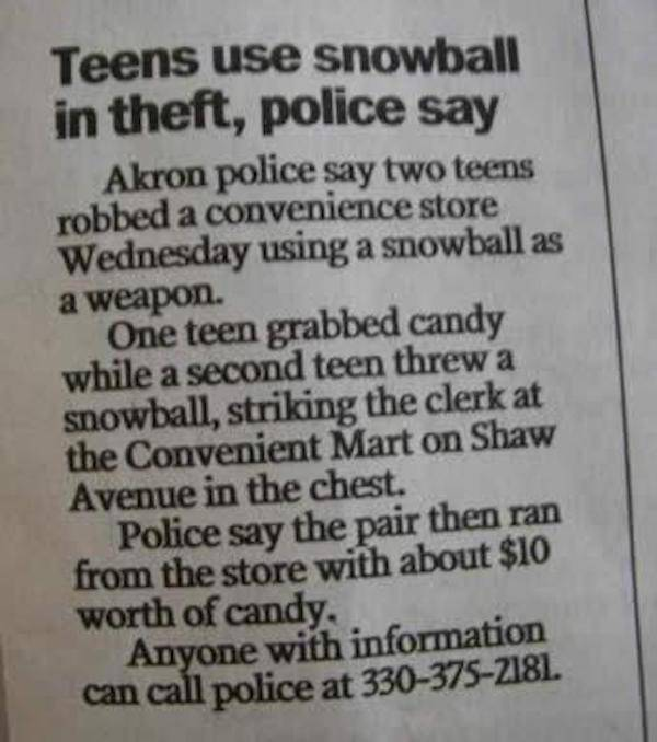 Police Blotter Is A Very Strange Place Indeed…