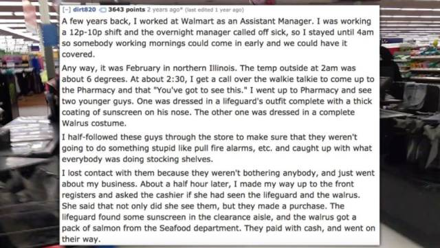 Walmart Employees Have Seen EVERYTHING In Their Lives!