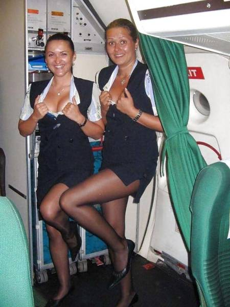 Stewardesses Know There's Nothing To Hide When You're So High In The Skies
