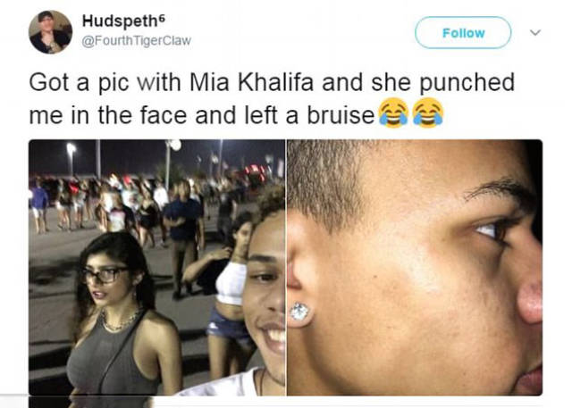 Looks Like Mia Khalifa Finds Taking Selfies With Her Offensive