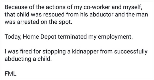 This Guy Got Fired For Helping The Police To Catch A Kidnapper And Now His Former Employer Receives Tons Of Hate