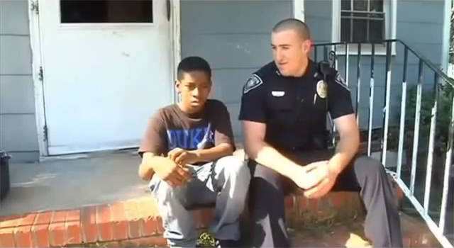 When This 13-Year-Old Told The Police He Wants To Run Away From Home, One Of The Officers Helped Him Out In A Very Nice Way