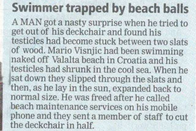 Do Newspapers Really Think Someone Cares About This?!