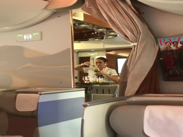 Nothing Special, Just An Emirates Airlines Stewardess Doing Some Weird Things