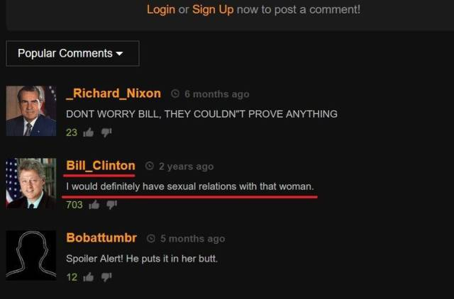 Even Pornhub Can Be Visited For Comments Only!