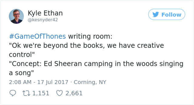 "Ed Sheeran Has Invaded ""Game Of Thrones"" And The Internet Just Can't Handle It"