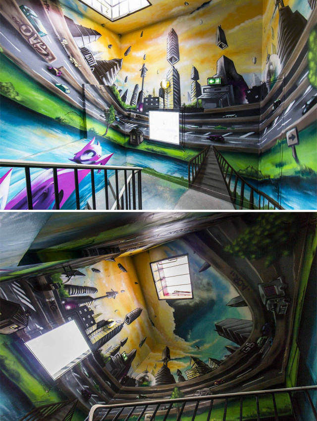 This French School Got Renovated By Graffiti Artists Far Better Than Any Renovator Would Have Done