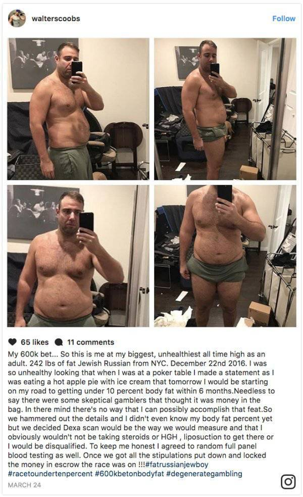 This Poker Player Has Earned Half A Million Dollars… By Losing Two Thirds Of His Fat In Half A Year!