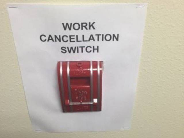 You Just Can't Escape Work…