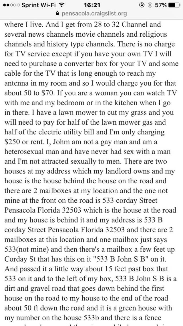 Yeah, This Craigslist Room Share Ad Is Absolutely Real…