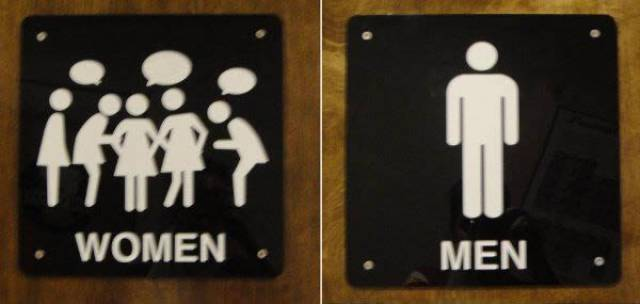 Bathroom Signs Is The Place Where All The Creativity Is Needed