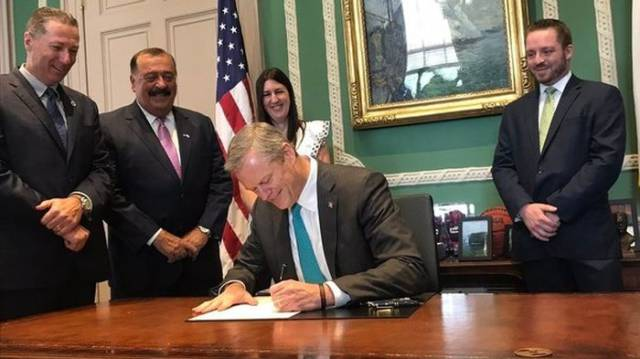 The Governor Of Massachusetts Couldn't Contain His Emotions Over Signing the New Law