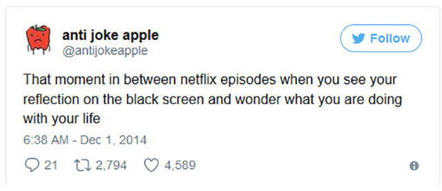 Netflix: Just Can't Help But Joke About It