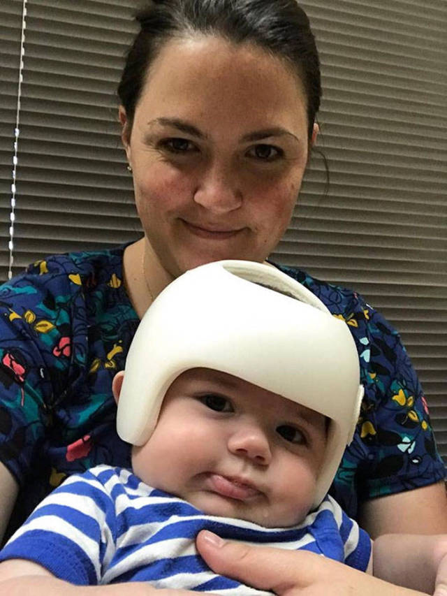 This Baby In Helmet Was The Reason His Family Went Viral On Twitter