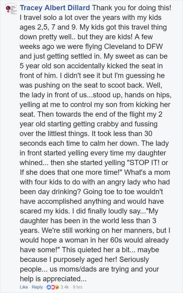 This Woman Has Shown An Example Of Compassion To Everyone On That Plane