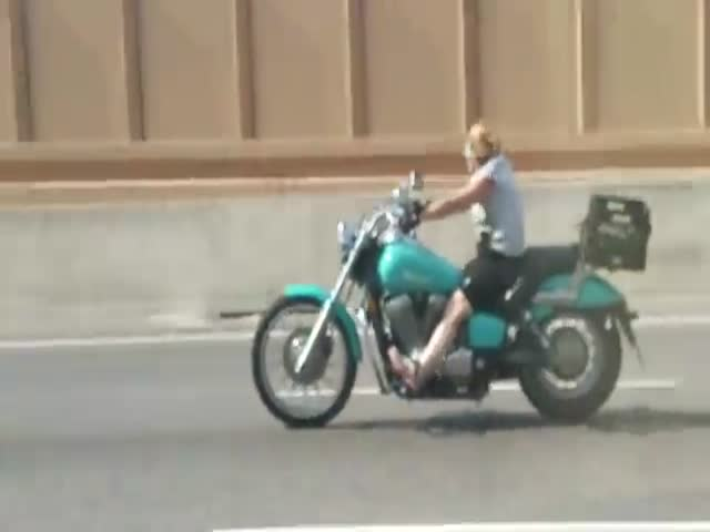 Was That Woman Biker High Or What?