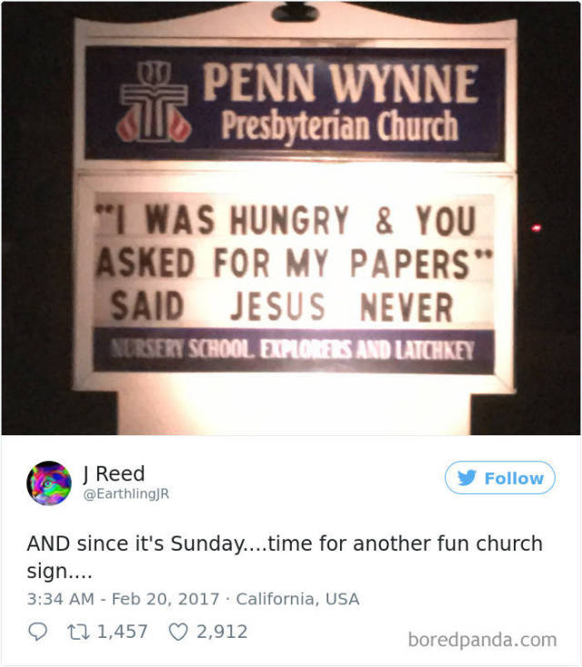 When Church Attracts The Congregation With Humourous Signs