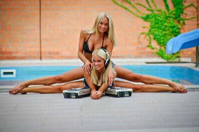 Just Some Sexy Girls Stretching