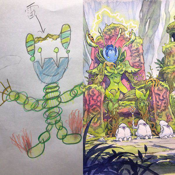 4 kids drawings turned into spectacular anime characters - Kids Drawings Images