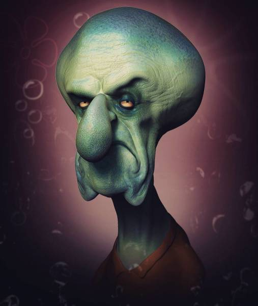 Horrifying Portraits Of Your Favourite Characters