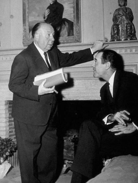 Interesting Behind the Scenes Photos from Alfred Hitchcock Sets