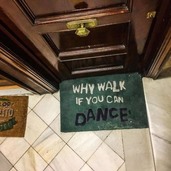 Come On, Be Creative With Your Doormat!