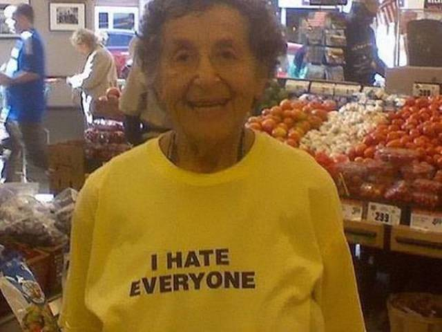 Elder People Don't Care What They Wear…