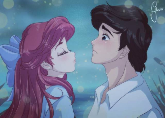 Anime Versions Of Disney Princesses Are Just Too Adorable!