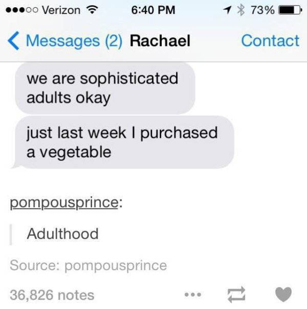 Memes About Becoming An Adult Never Grow Old