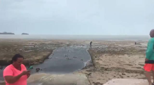 Hurricane Irma Is Sucking The Ocean Away!